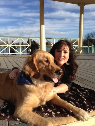 Krissie with Cooper, her Golden Retriever